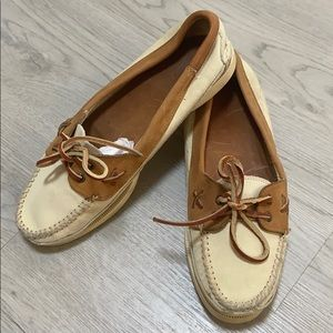 Vintage Ralph Lauren Leather Boat Shoes Loafers